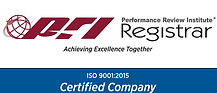 ISO 9000:2015 Certified PRI Performance Review Institute Registrar Certified