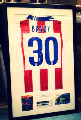Sports shirt framing