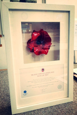 Poppy and certificate