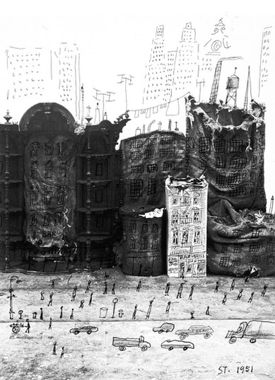 Saul Steinberg, Junk Street, 1951 .jpg