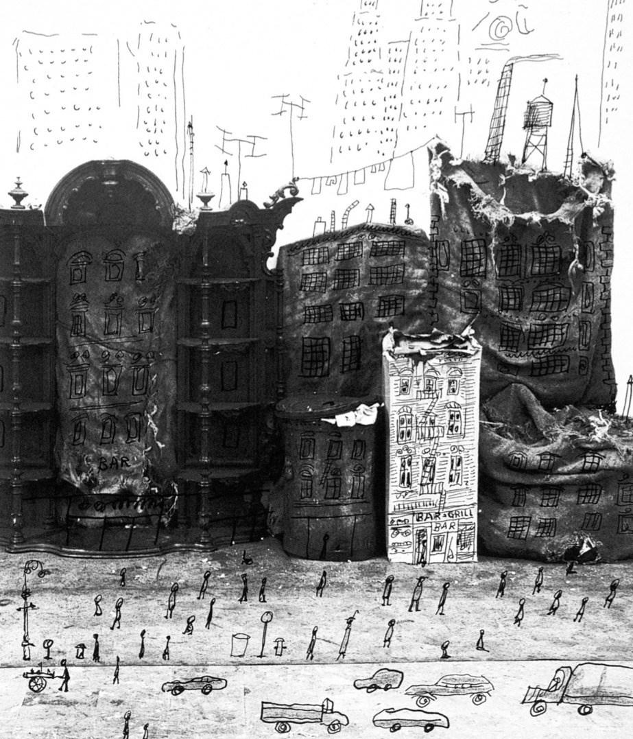 Saul Steinberg, Junk Street, 1951 _edite