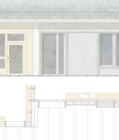 Detail Südfassade