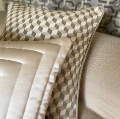 Piped Cushion and Quilted Cushion