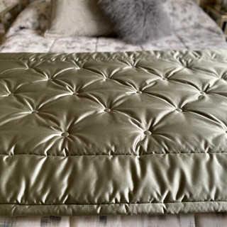 Button Quilted Bed End Runner