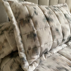 Quilted Pillow Sham with Oxford Edge