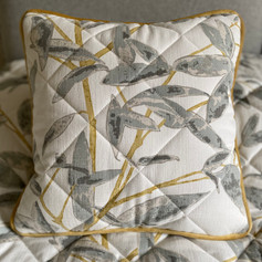 Quilted and Piped Cushion
