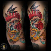 Neotraditional Rooster by Benny
