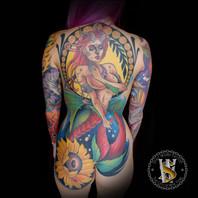 Mermaid Back Piece by Benny