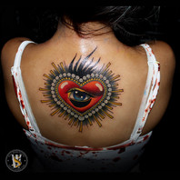 Neotraditional Heart with Eye by Benny