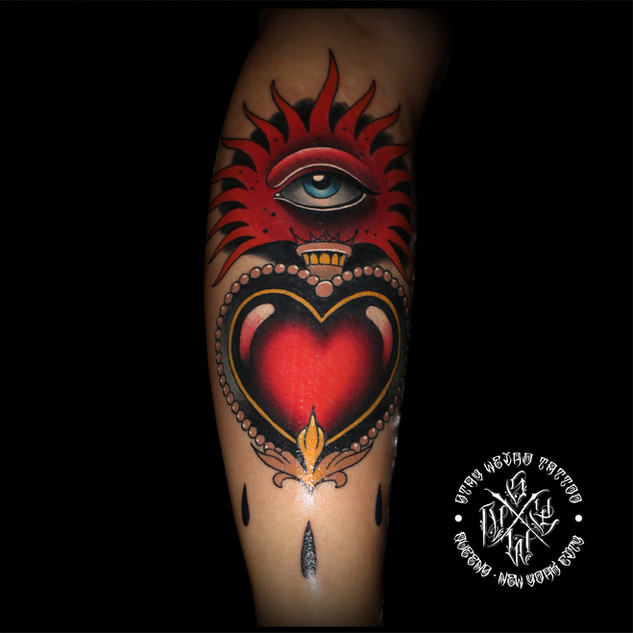 Neotraditional Heart by Benny