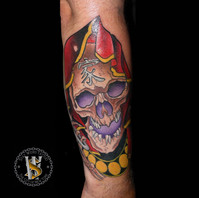 Neotraditional Skull by Benny