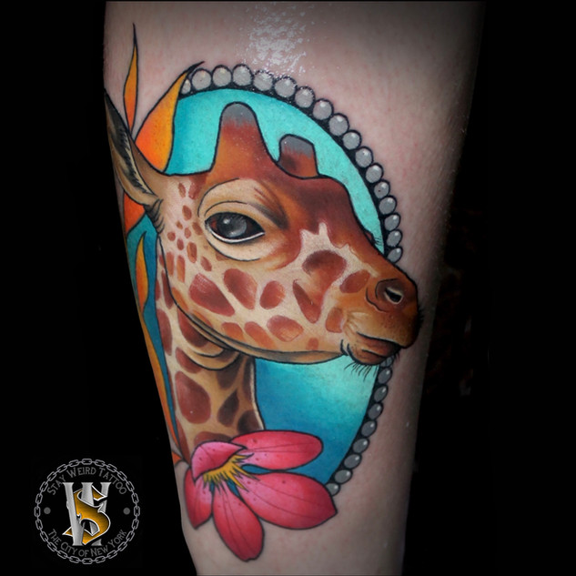 Neotraditional Giraffe by Benny
