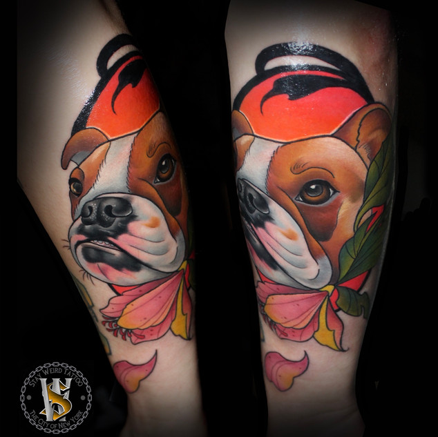 Neotraditional Dog by Benny