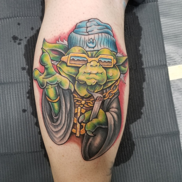 Yoda Tattoo by Jeremy