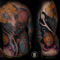 Neotraditional Back Piece by Benny