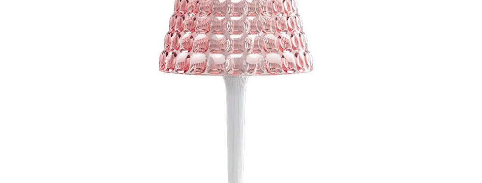 Wireless Table Lamp Tiffany Pink