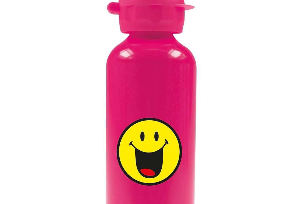 Aluminium Bottle 600ml- Emo Happy