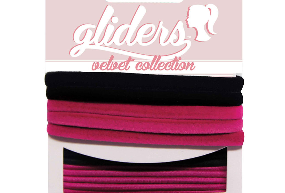 Velvets 6pc - Black/Pink