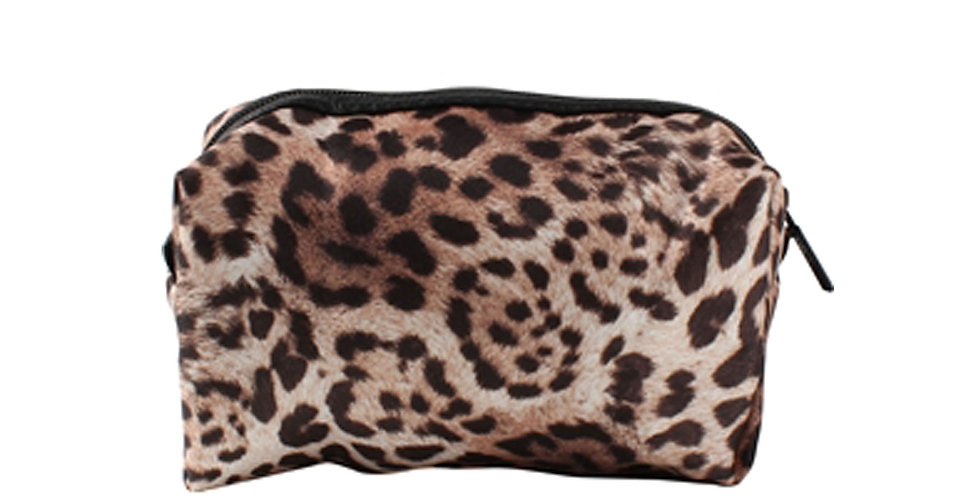 Lola Cosmetic Bag - Leopard