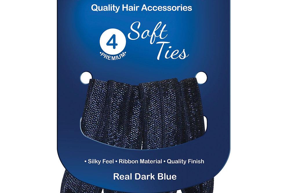 Sof Ties 4pc - Real Dark Blue