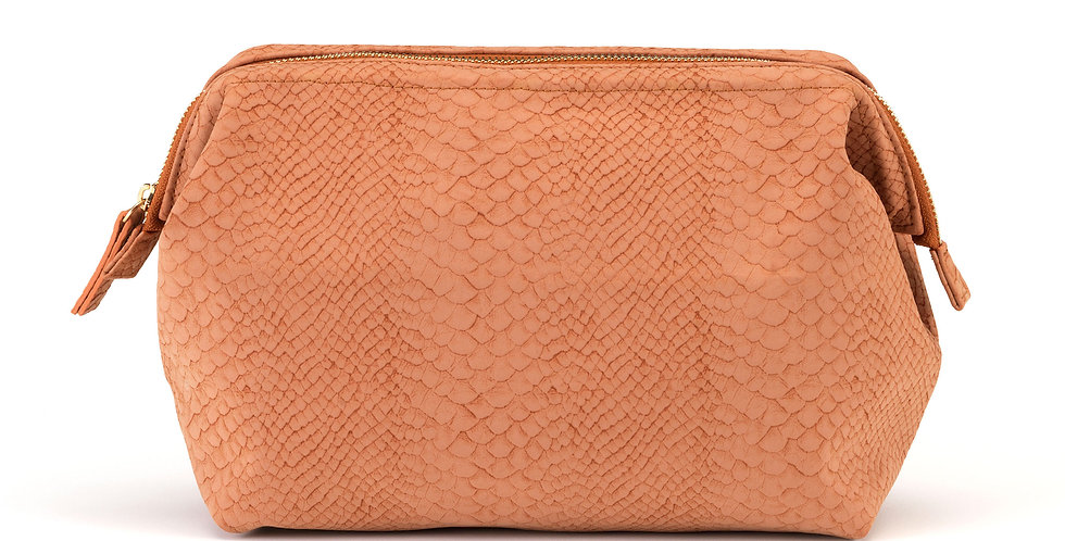 Regina (L) Cosmetic Bag - Burnt Orange