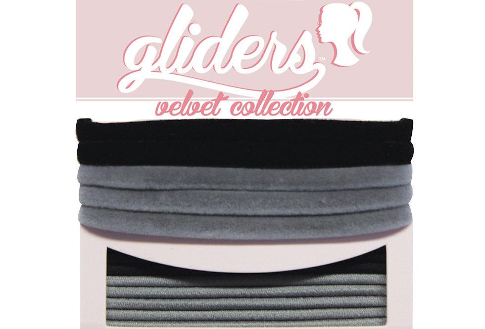 Velvets 6pc - Black/Grey