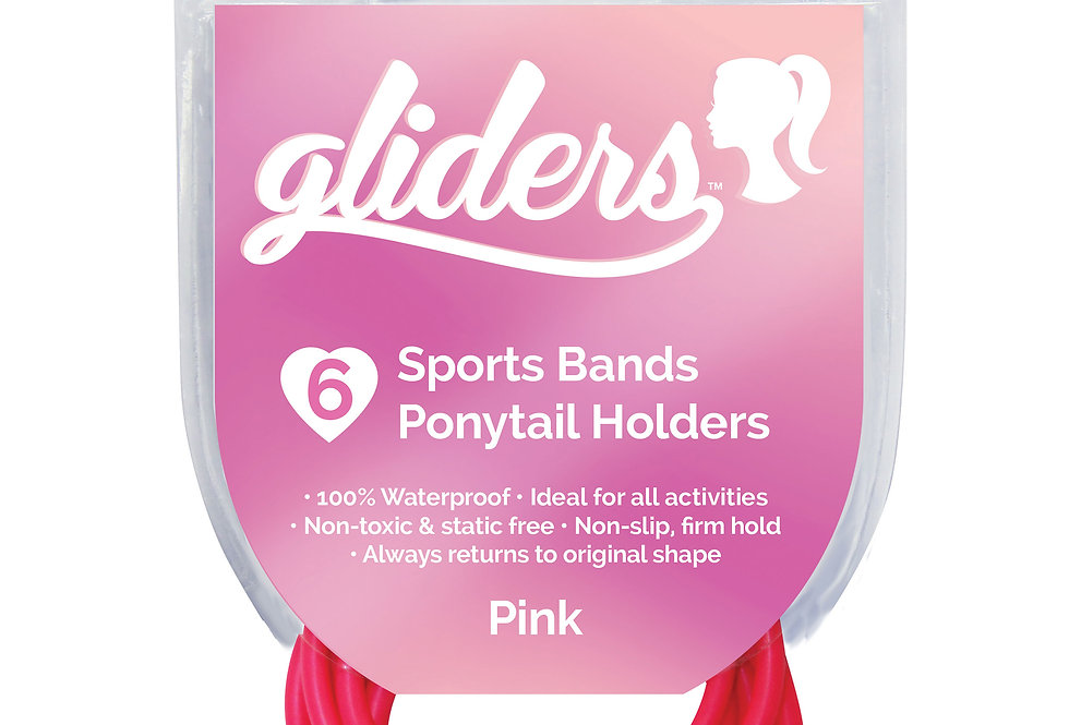 Non-Slip Sports Bands 6pc - Pink