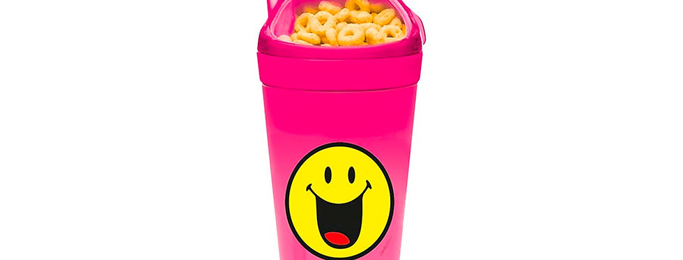 Snack & Drink Tumbler 30cl 9x18cm- Emo Happy