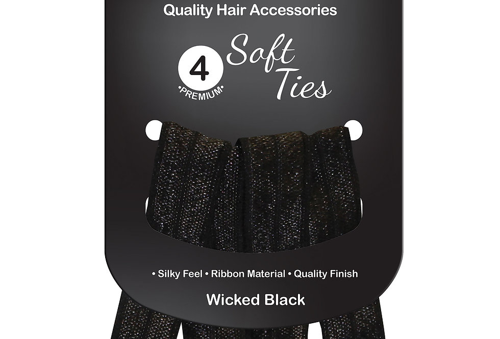 Soft Ties 4pc - Wicked Black