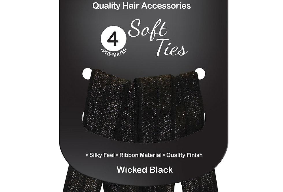 Soft Ties 4pc - Wicked Black