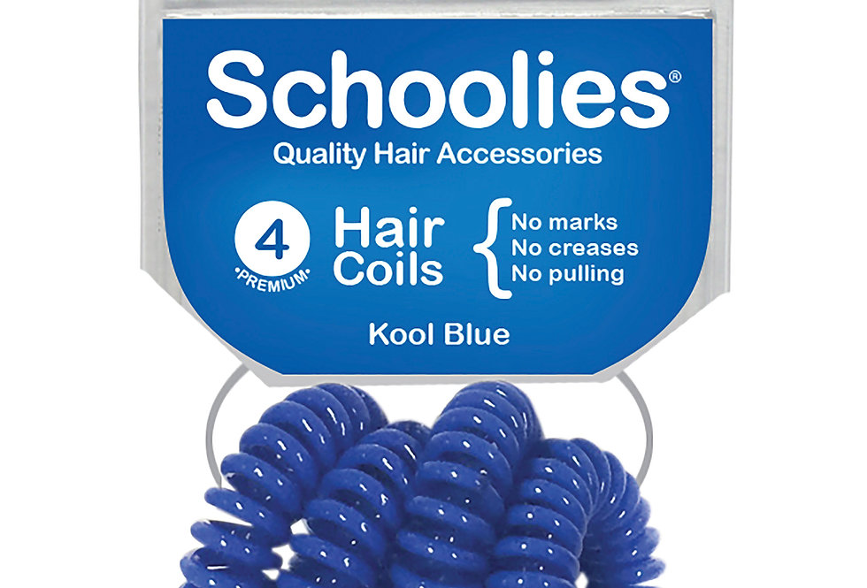 Hair Coils 4pc - Kool Blue