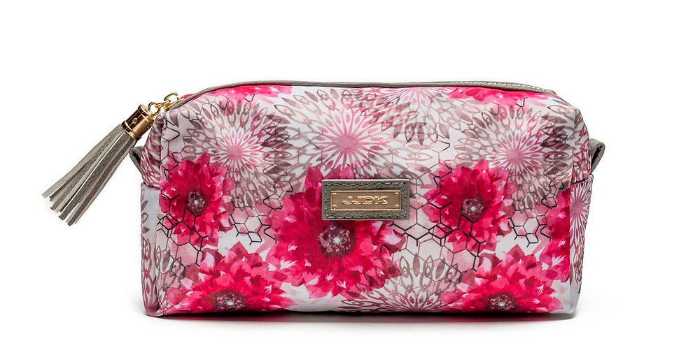 Viola Make-up bag White/pink flower