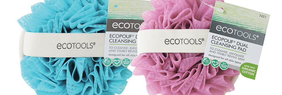 Ecopouf Dual Cleansing Pad - Blue/Pink