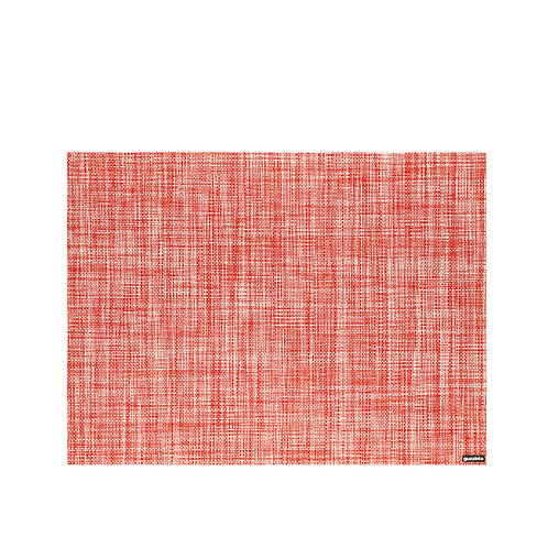Grace Placemat Tweed - Red Transparent
