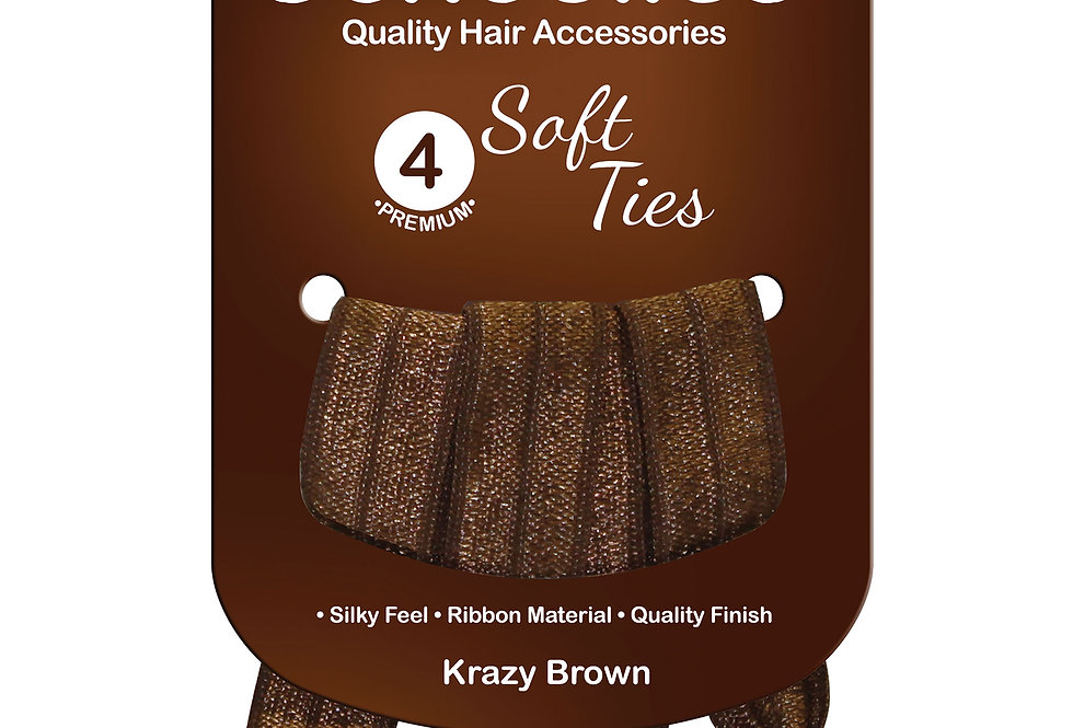 Soft Ties 4pc - Krazy Brown
