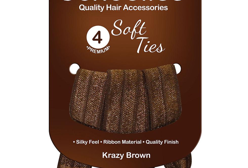 Soft Ties 4pc - Krazy Brown