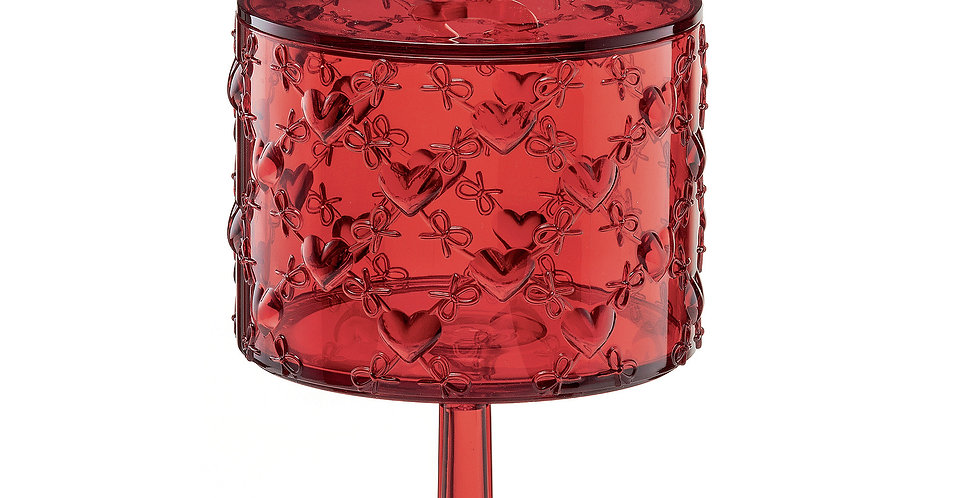 Small Container With Stand - Red