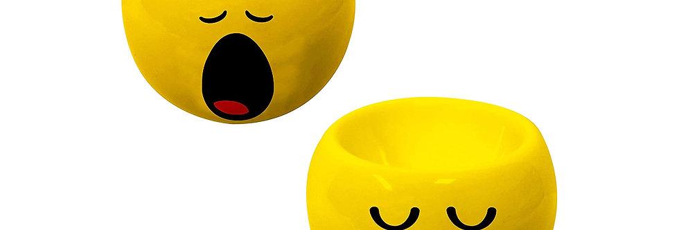 Ceramic Eggcups 2-Pc Set- Emo Yawning/Sleepy