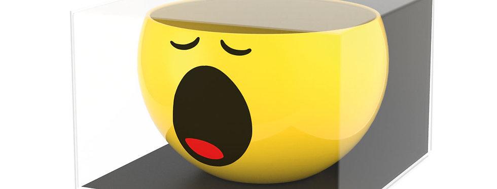 Ceramic Breakfast Bowl 13cm- Emo Yawning