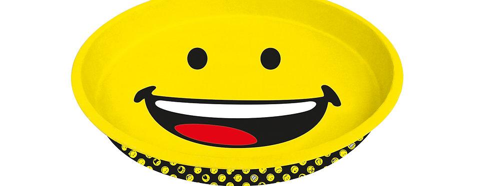 Round Tin Tray 33x4cm- Emo Happy