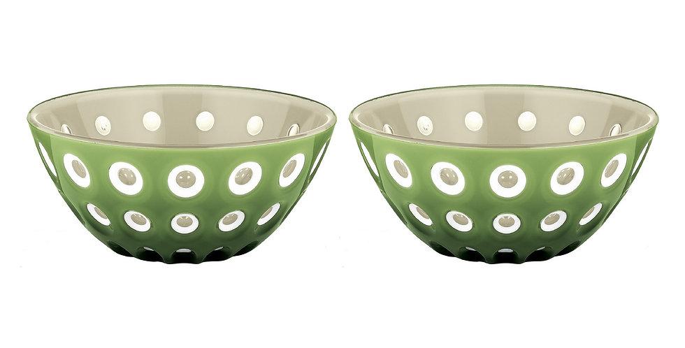 SET 2 Bowls 12cm - Sand/White/Green