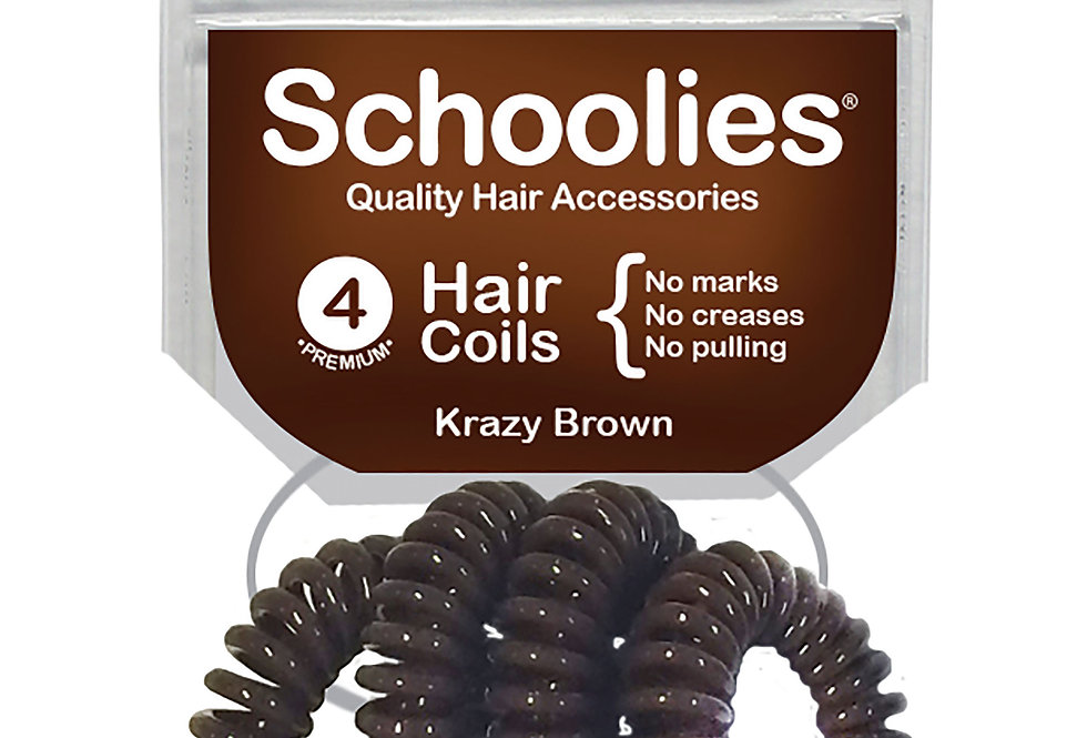 Hair Coils 4pc - Krazy Brown