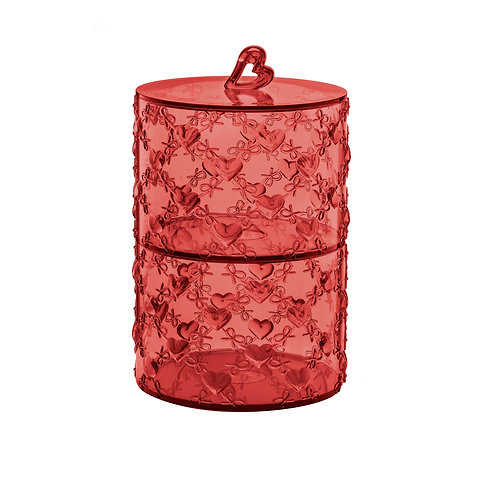 Set 2 Stackable Containers-Red