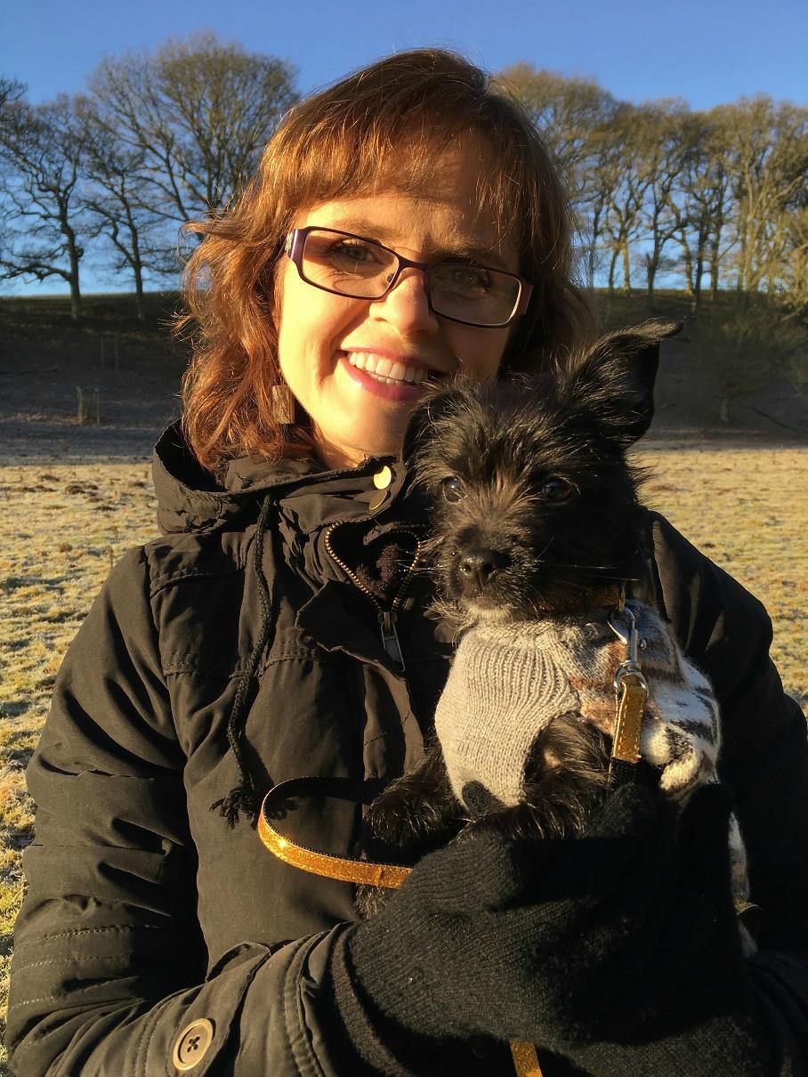 Lisa and Nimmy the dog