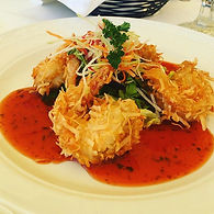 Coconut shrimp .... succulent and tasty.