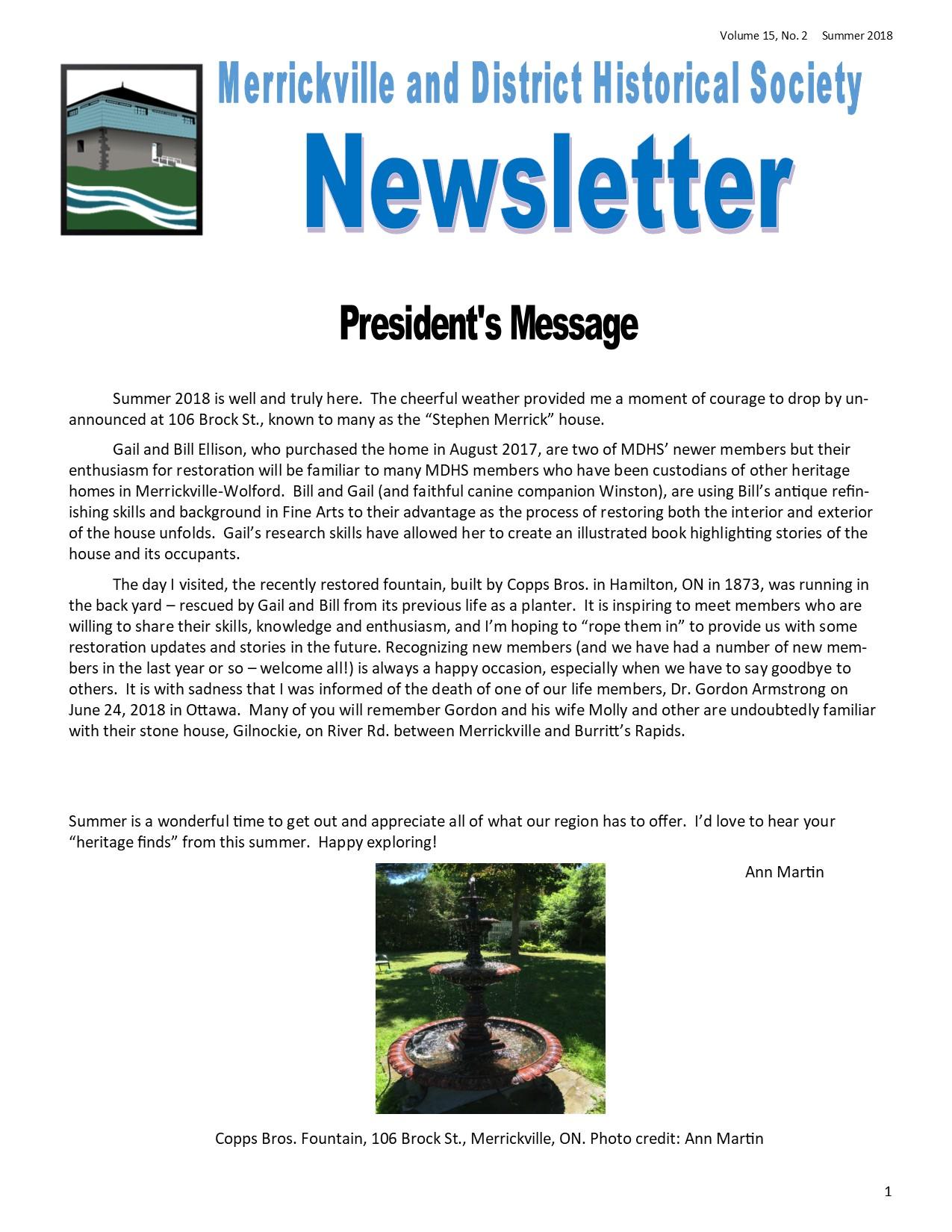 Newsletter Editor