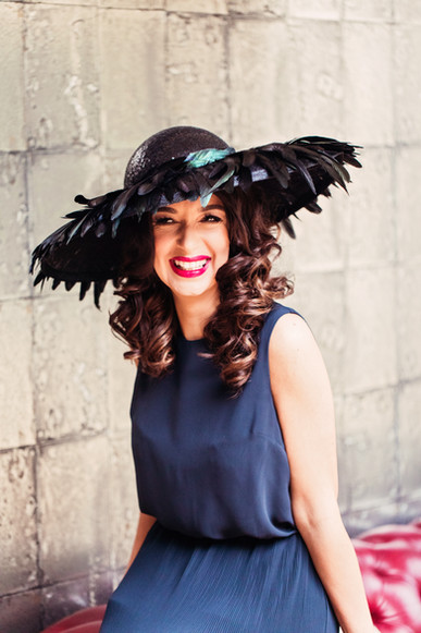 'Ebony' Feather Picture Hat
