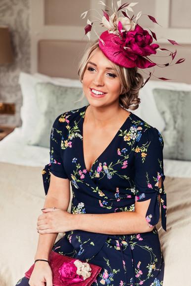 'Vintage Rose' Cocktail Hat
