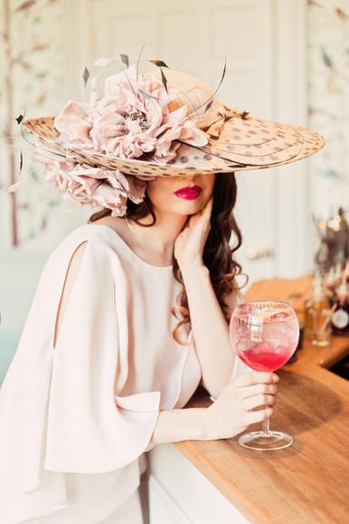 'English Rose' Full Bloom Hat