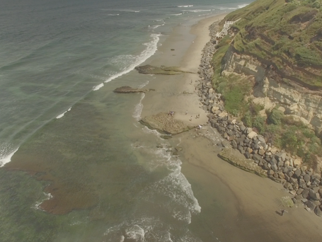 Drone view of Swami's photo by Mike Redman